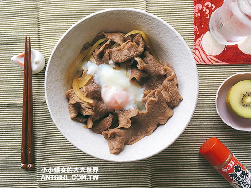 兩步驟完成牛丼(懶人煮法)