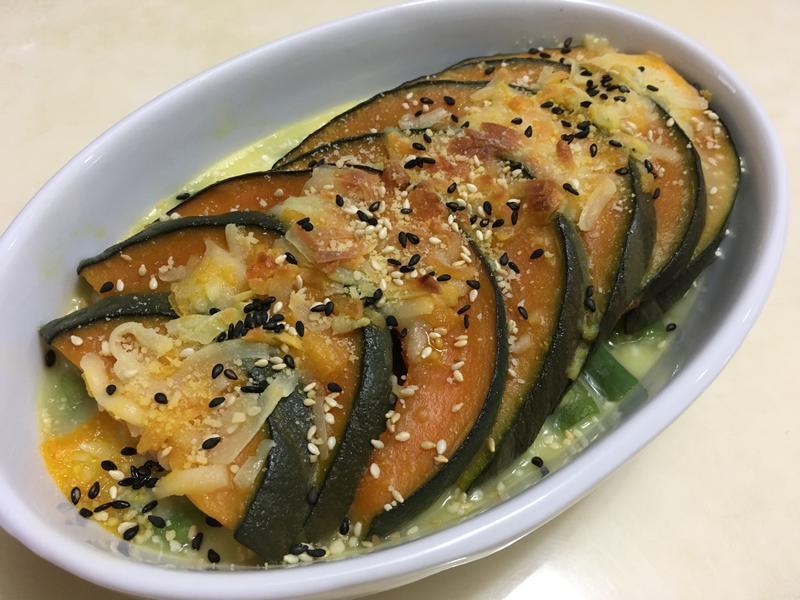 焗烤白醬醜豆南瓜