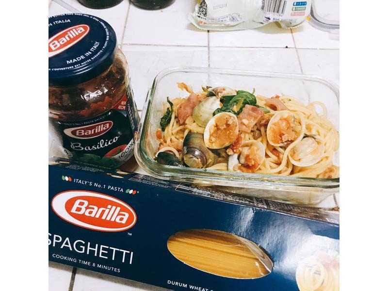培根蛤蜊義大利麵