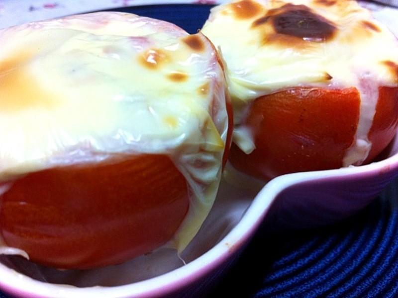 凱莉貓^ ^ 烤起司鮪魚蕃茄盅~營養滿分
