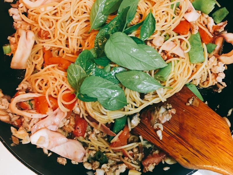 魷魚特製義大利麵