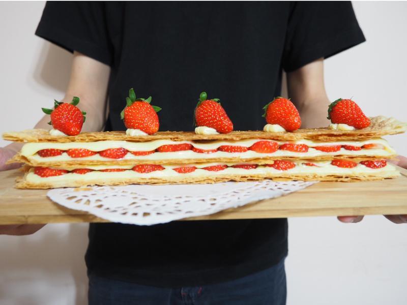 簡易草莓千層酥