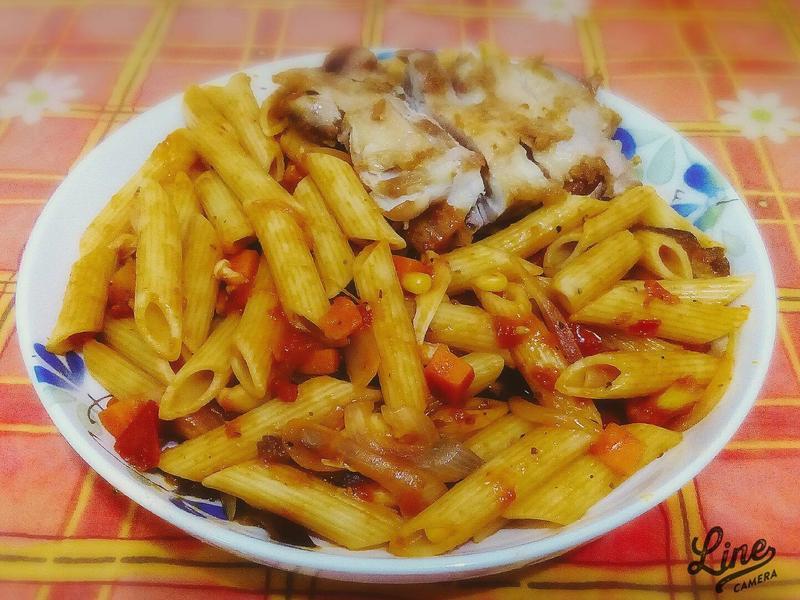 番茄雞鮮蔬義大利麵【百味來私房美味】