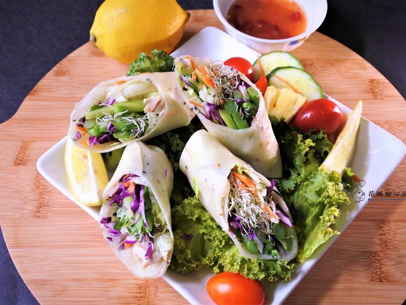 泰式餅皮蔬菜捲