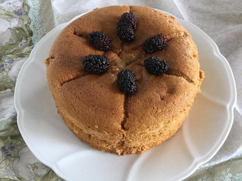 桑椹果醬戚風蛋糕