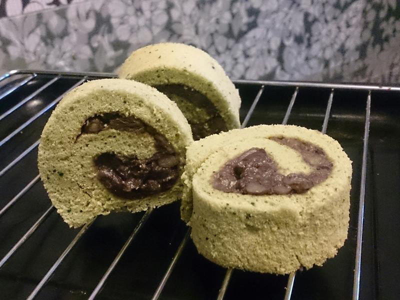 抹茶紅豆の蛋糕捲