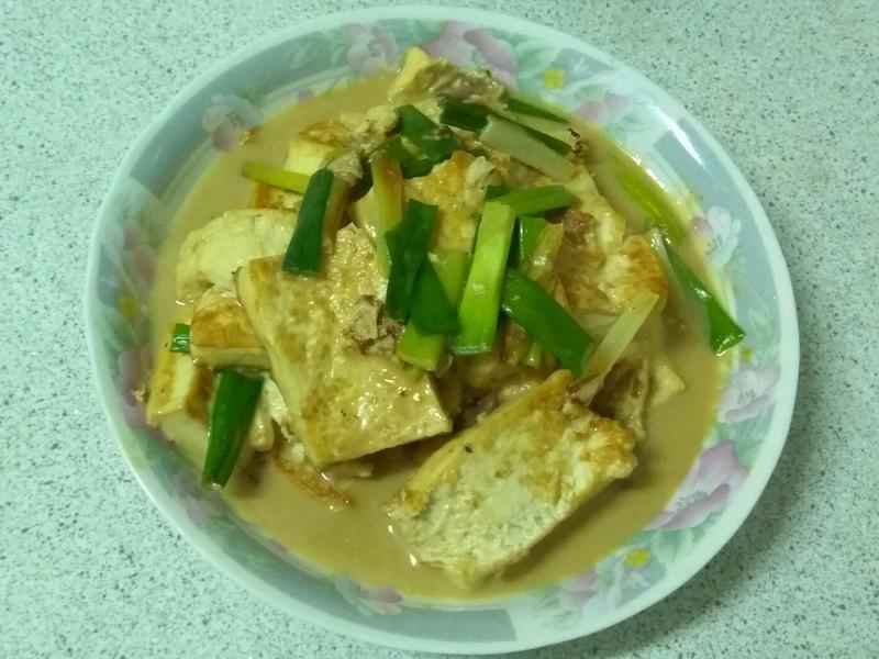 豆乳蔥燒豆腐