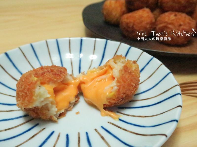 爆漿馬鈴薯起司玉米球(附上影片連結)