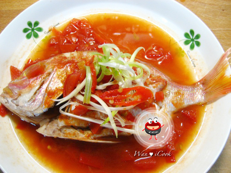 "♡宛の美好""食""光 ✿ 茄汁蒸鮮魚"