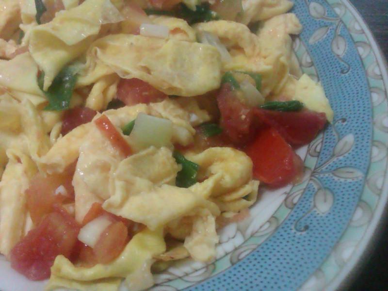 紅茄炒蛋皮