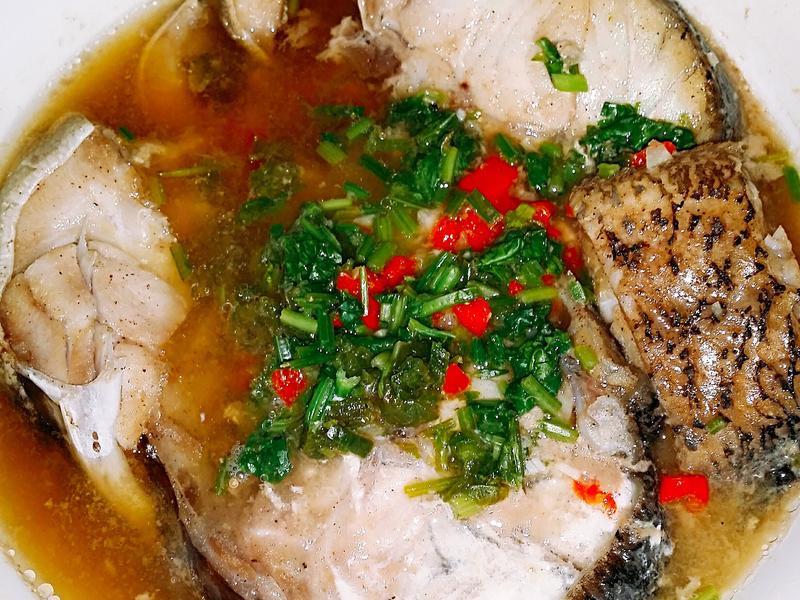 🐡🌶🍋椒麻醬汁蒸魚