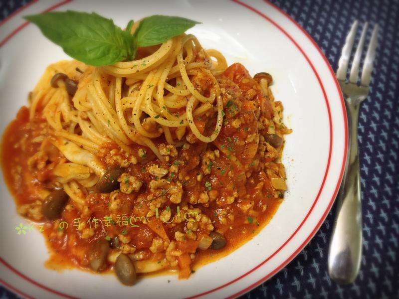 鮮蕃茄肉醬義大利麵🍝