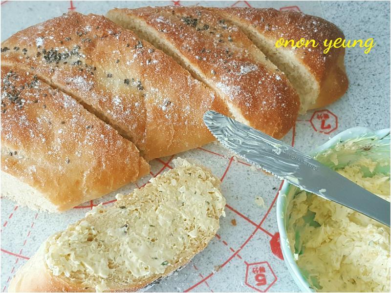 簡易法包(配奶油香蒜抹醬)