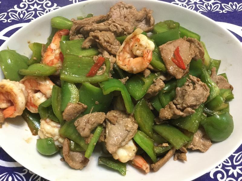 青椒炒雙鮮