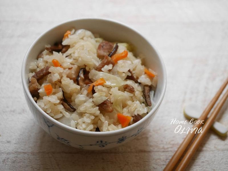 小廚娘❤電鍋古早味高麗菜飯