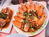 蒜味蒸大蝦