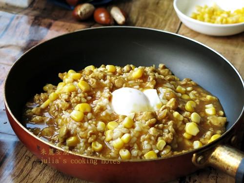 [半熟蛋熔岩肉醬飯]親子料理 簡易家常菜
