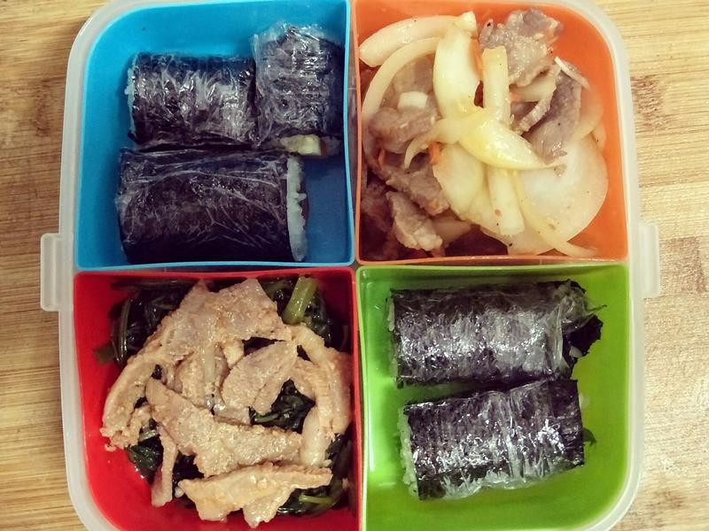 非專業韓式飯卷午餐
