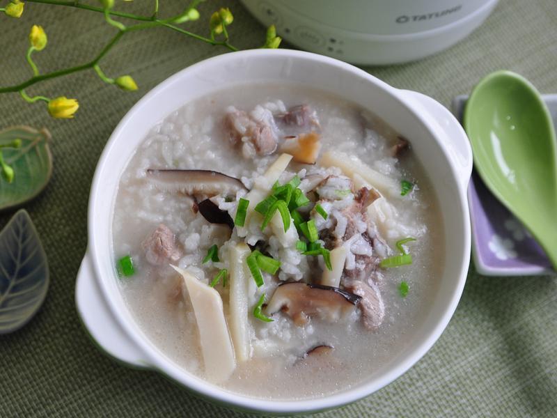 香菇鮮筍排骨粥【大同輕享料理壺】