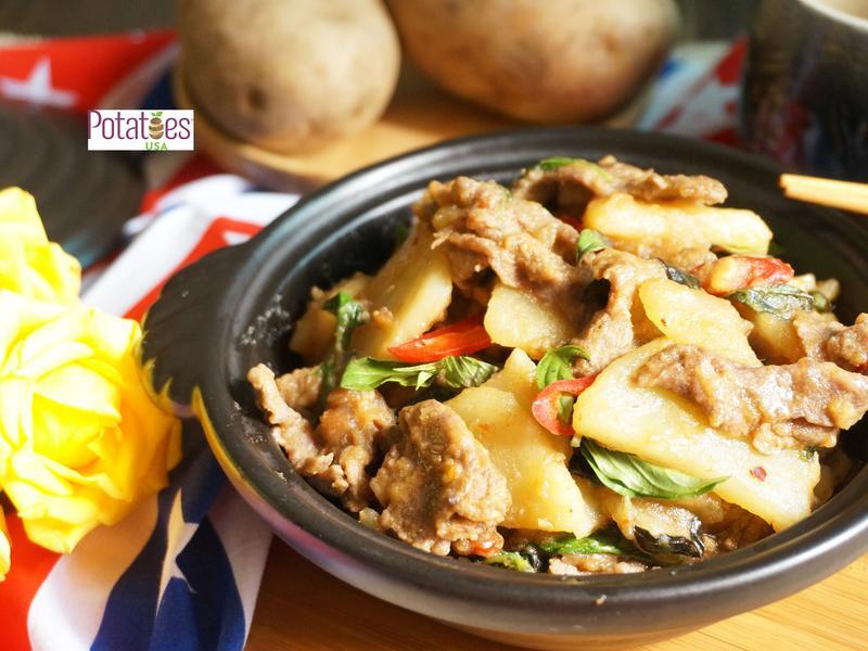 [美國馬鈴薯]塔香牛肉炒美國馬鈴薯薯片