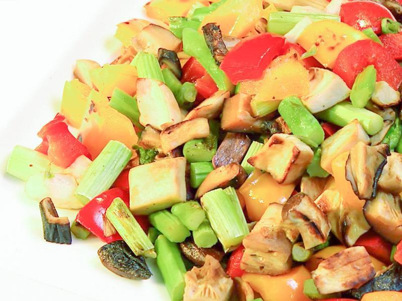 紅椒蘆筍清炒杏鮑菇 │ 零失敗輕鬆上桌