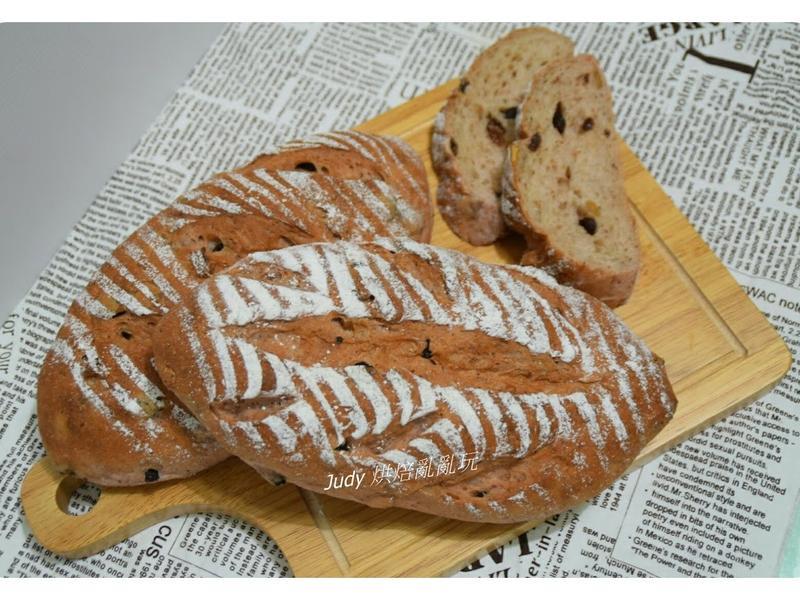 紅藜葡萄乾核桃麵包