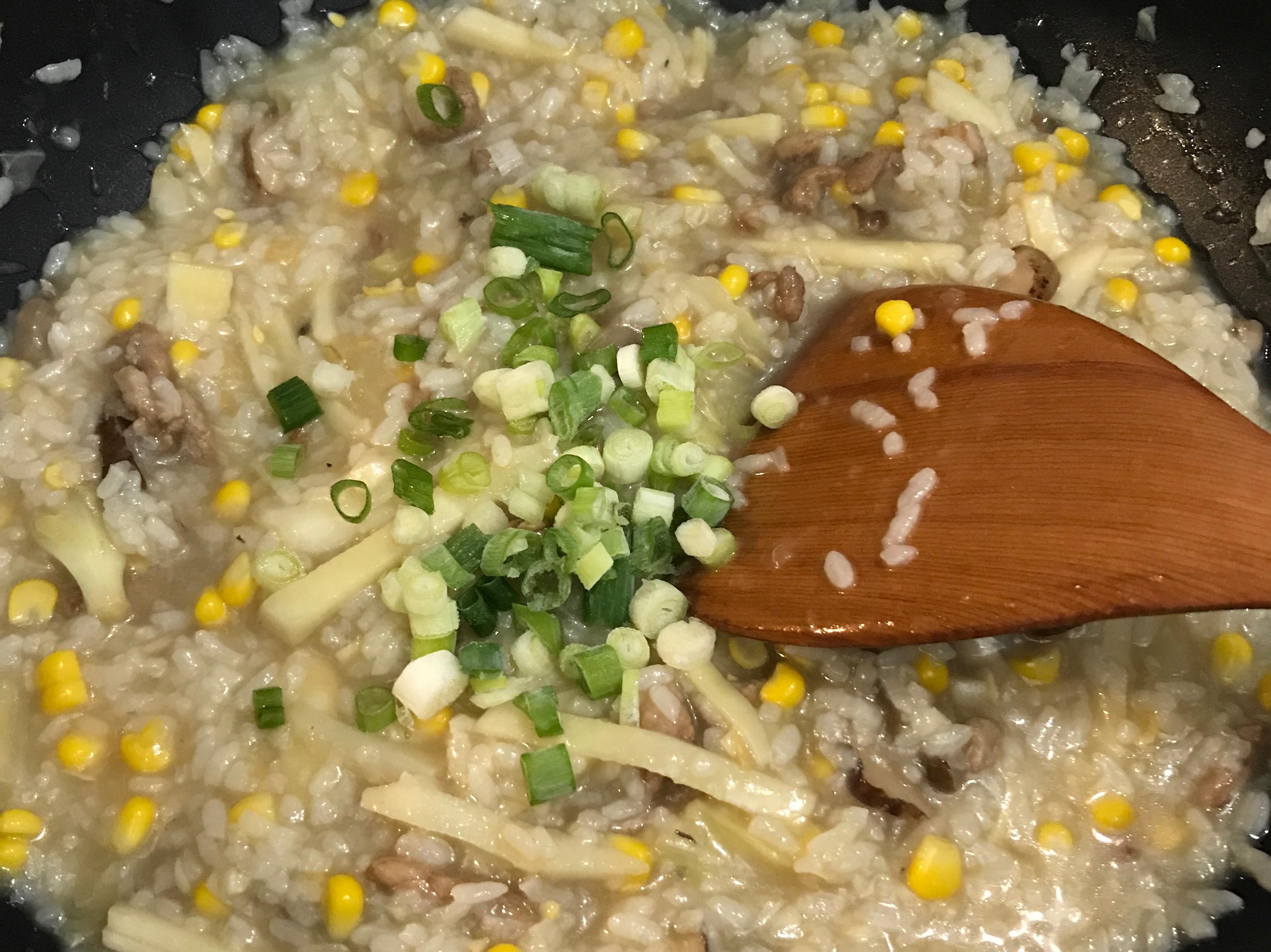 香菇竹筍肉絲粥