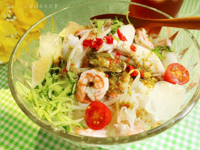泰式海鮮涼拌蒟蒻麵