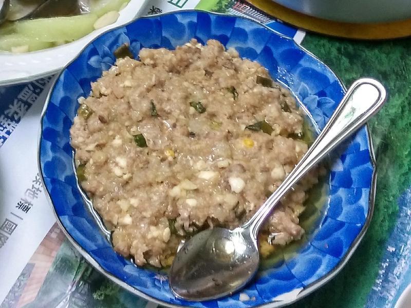 電鍋料理|鹹蛋蒸肉餅