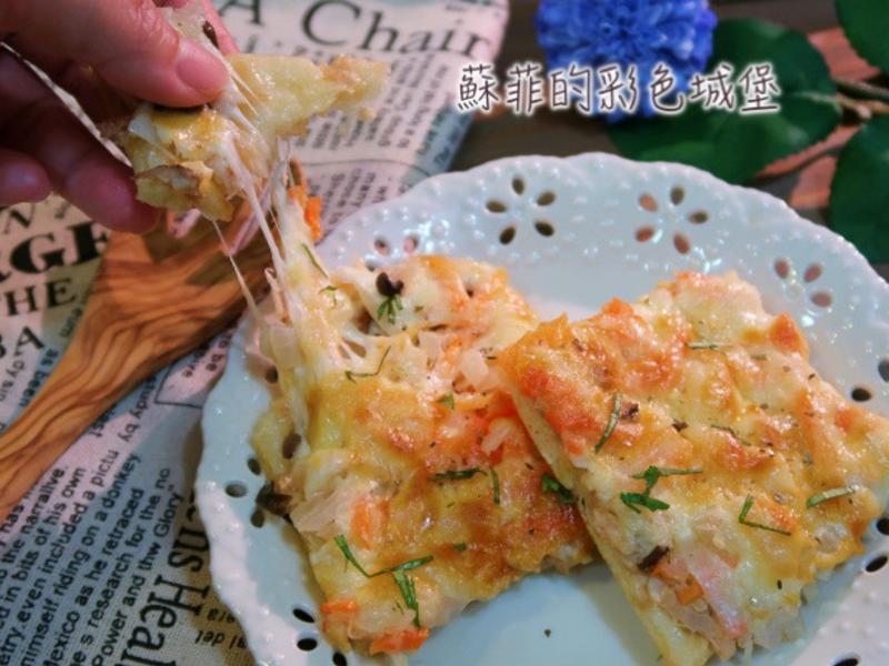 『鮪魚菇菇絲』薄皮披薩