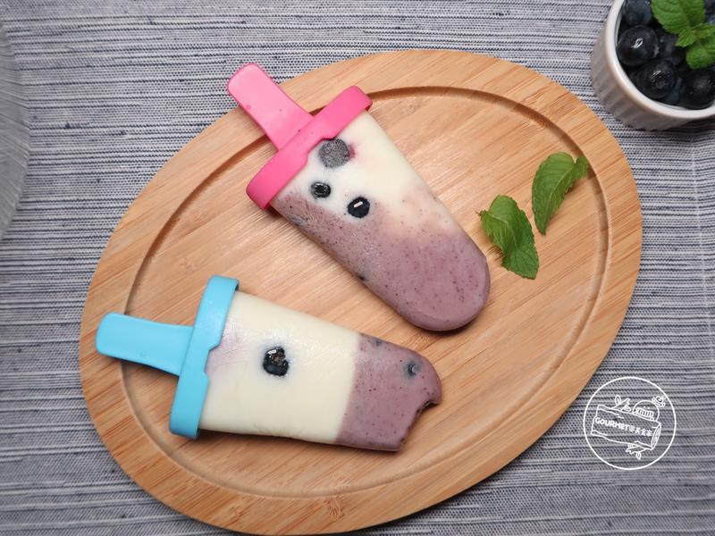 藍莓優酪冰棒(美味三食材)