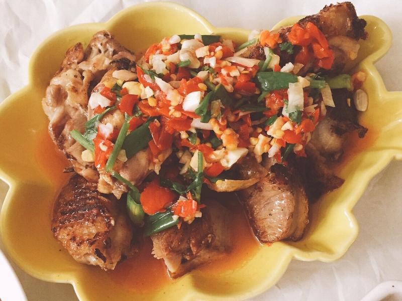 泰式椒麻雞(油煎版)