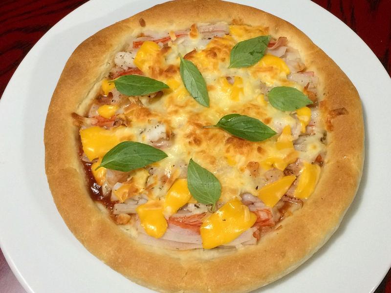 海鮮披薩(老麵法)
