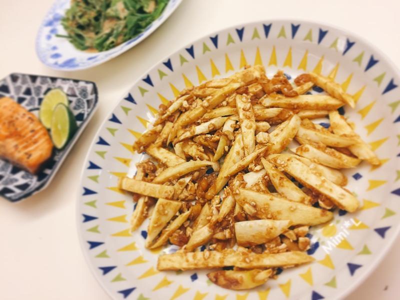 鹹蛋炒茭白筍