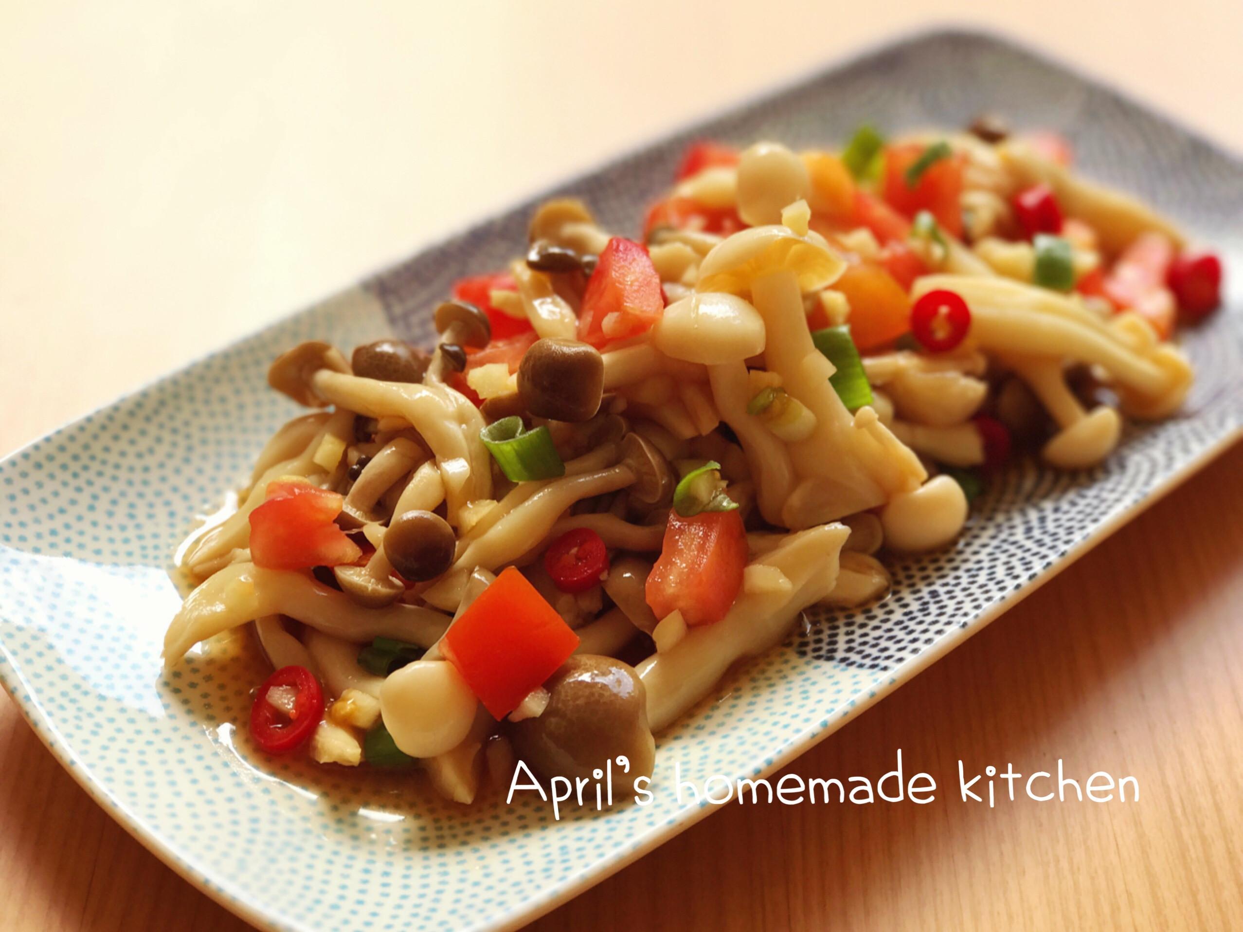 蒜味涼拌鮮菇 15分鐘開胃菜