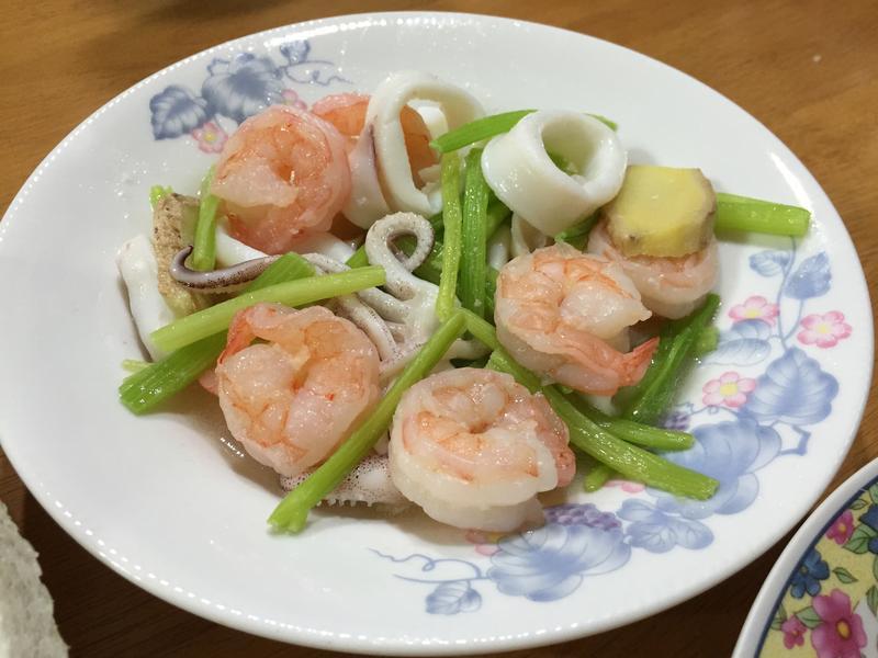 芹菜炒雙鮮