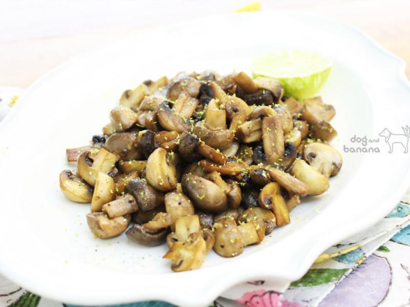 椰子油蒜炒檸香蘑菇