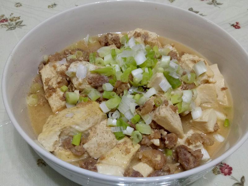 鮮絞豬肉煮豆腐