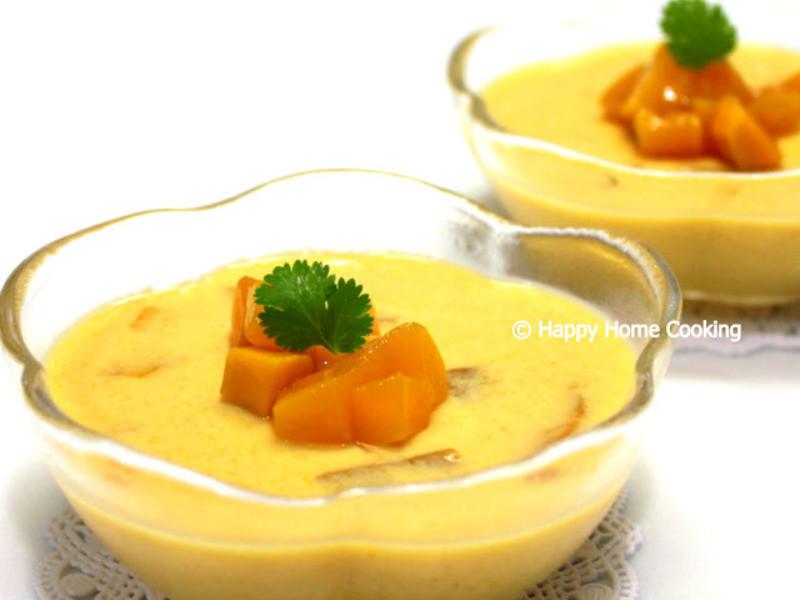 開心入廚の炎熱夏天消暑甜品 「芒果布丁」