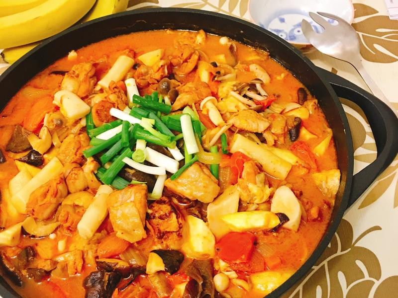 韓式春川辣雞年糕~快速上菜