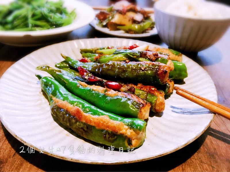 糯米椒豆腐鑲肉