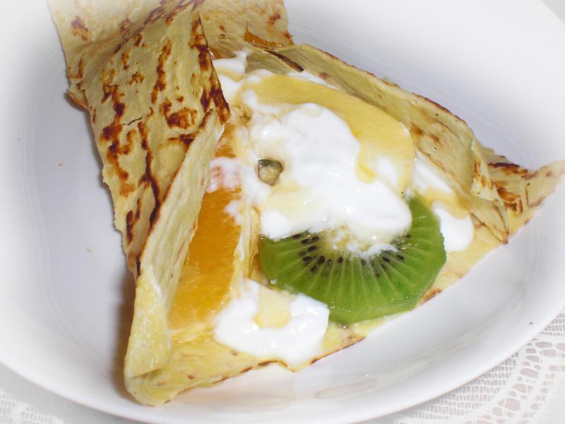 水果優格法式可麗餅