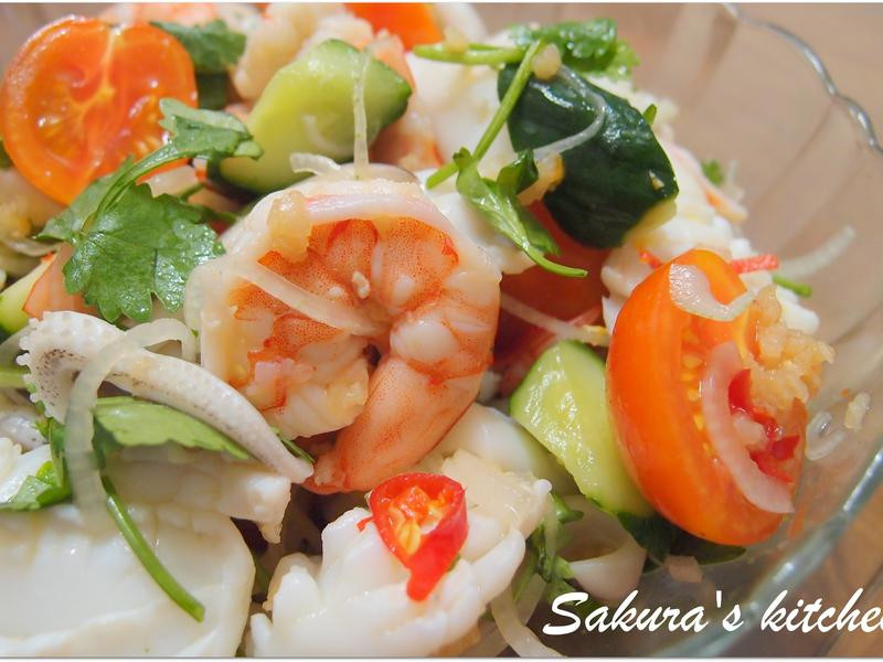 ♥我的手作料理♥ 泰式酸辣海鮮