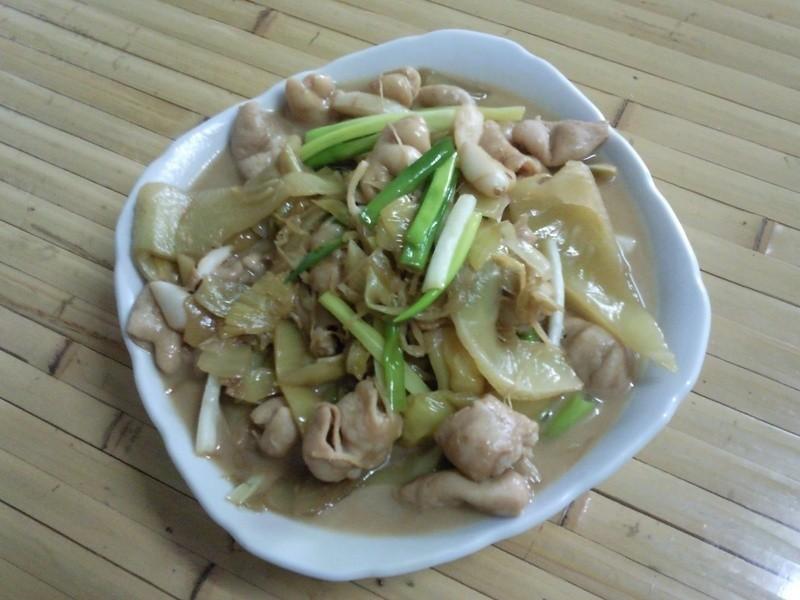 [家常菜]酸菜炒大腸