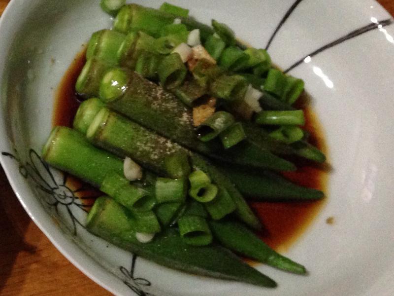 清燙秋葵拌醬油