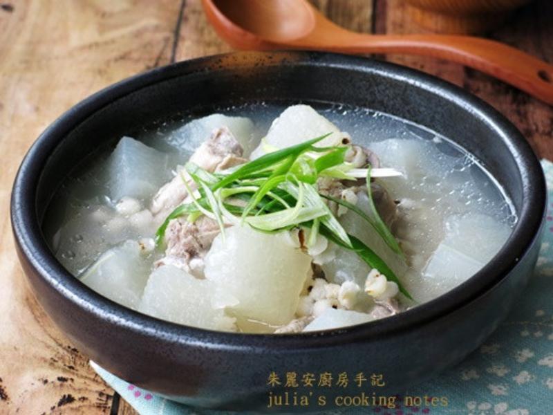 [冬瓜薏仁排骨湯]簡易家常菜