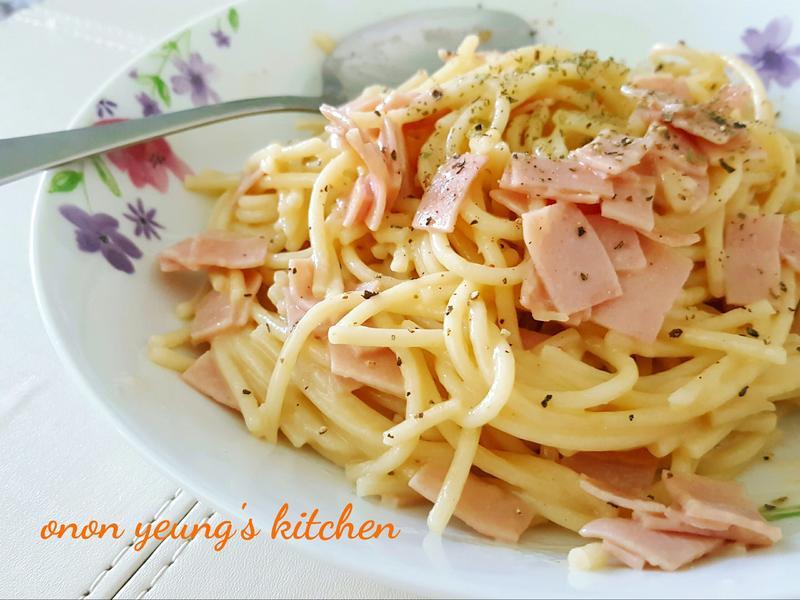 簡易料理…卡邦尼培根義大利麵
