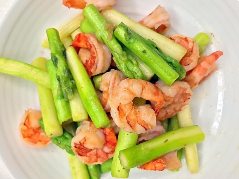 お弁当-170623-蘆筍蝦仁