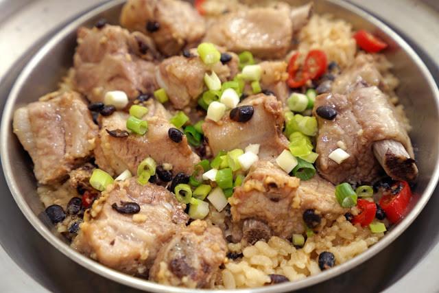 豆豉排骨蒸飯