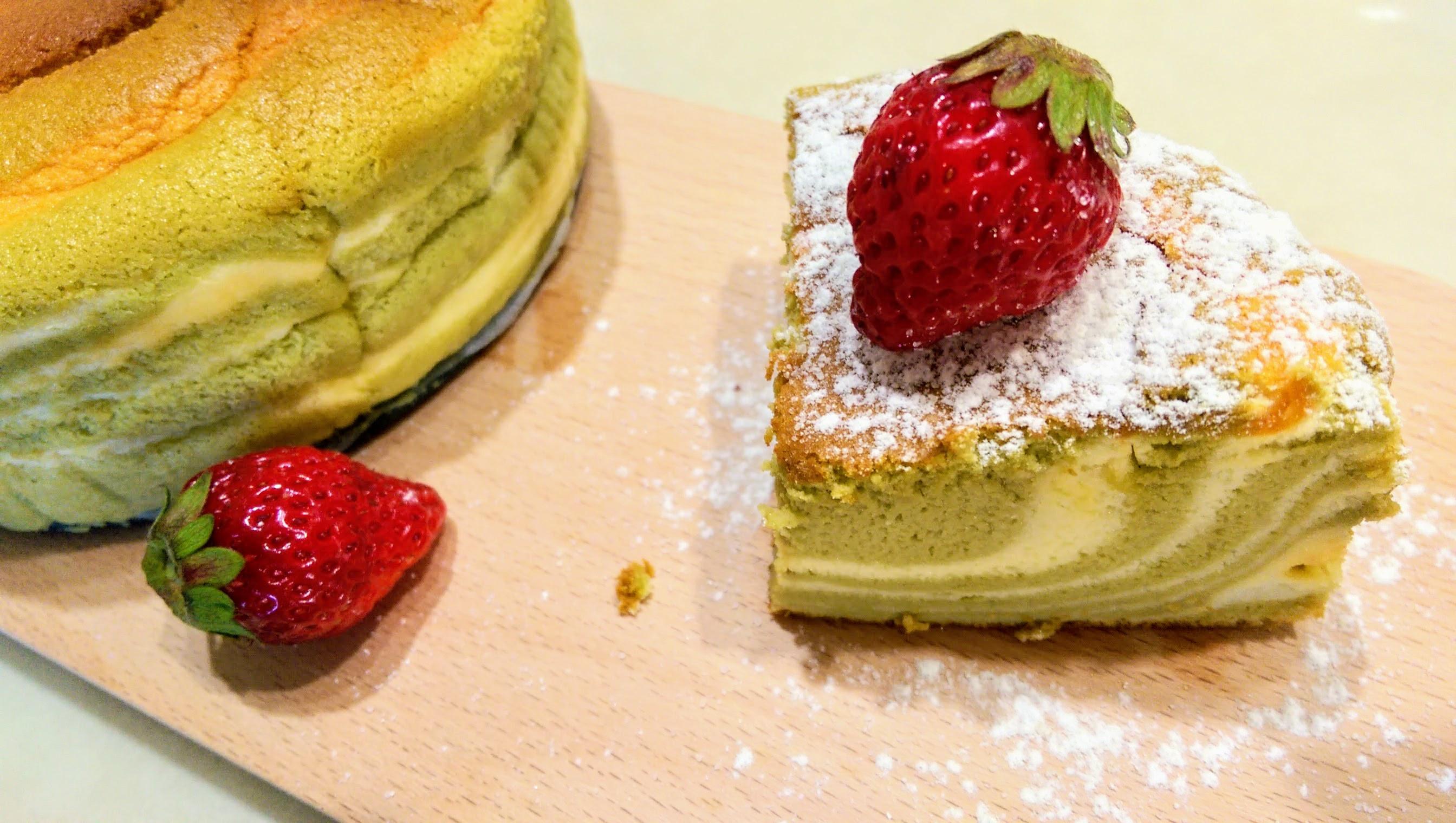 抹茶斑馬輕乳酪蛋糕
